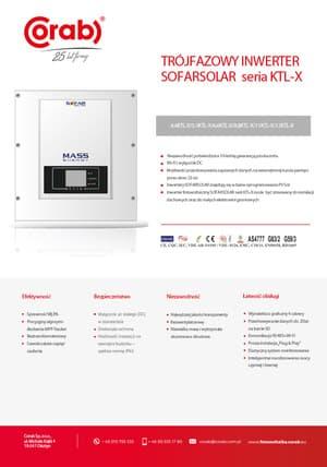 Trójfazowy inwerter SOFARSOLAR KTL-X